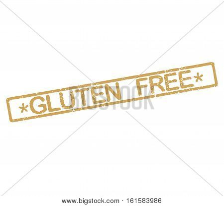 Rubber stamp label with text gluten free