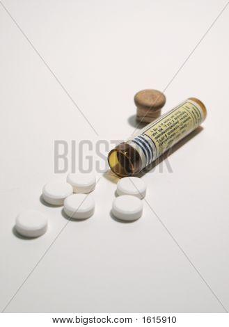 Frasco de comprimidos & comprimidos