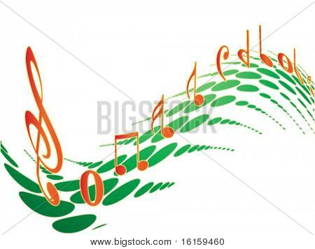 Music element colorful design - vector illustration
