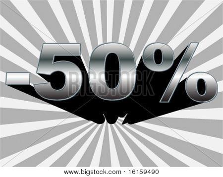fundo de 50% de desconto - ilustração vetorial