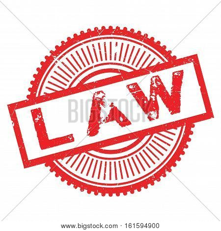 Law stamp. Grunge design with dust scratches. Effects can be easily removed for a clean, crisp look. Color is easily changed.