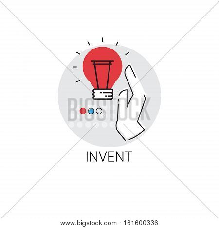 Invent New Idea Inspiration Creative Process Business Icon Vector Illustration