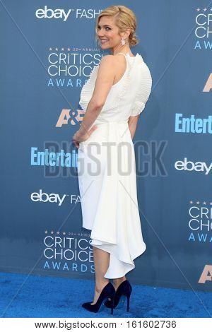 LOS ANGELES - DEC 11:  Rhea Seehorn at the 22nd Annual Critics' Choice Awards at Barker Hanger on December 11, 2016 in Santa Monica, CA