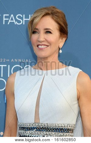 LOS ANGELES - DEC 11:  Felicity Huffman at the 22nd Annual Critics' Choice Awards at Barker Hanger on December 11, 2016 in Santa Monica, CA