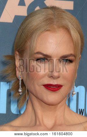 LOS ANGELES - DEC 11:  Nicole Kidman at the 22nd Annual Critics' Choice Awards at Barker Hanger on December 11, 2016 in Santa Monica, CA