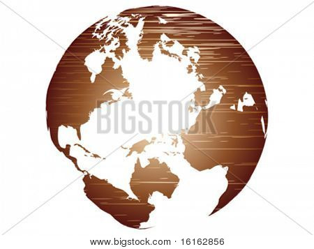transparent world globe