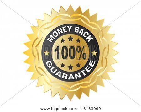 100 % GUARANTEE label vector illustration