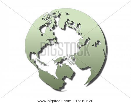 transparent world globe