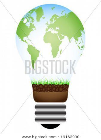 green energy vector illustration