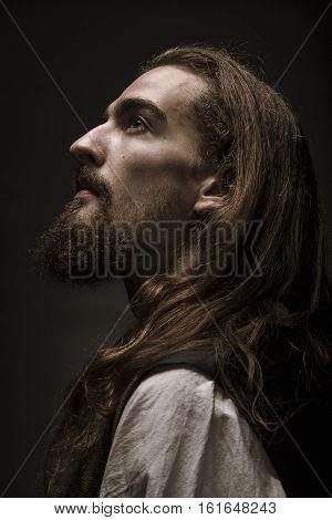 Portrait Of  Medieval Peasant