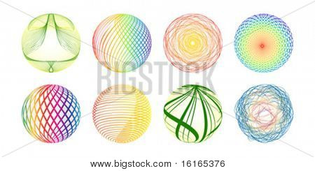 Colorful balls made of lines