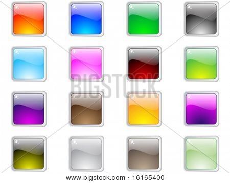 web buttons different colors vector illustration