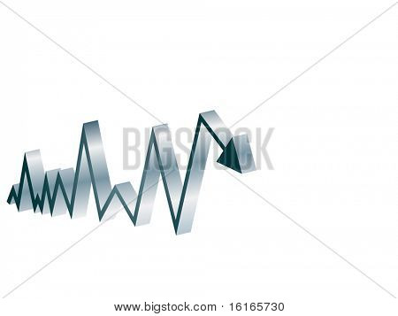 (raster image of vector) chart made of arrow