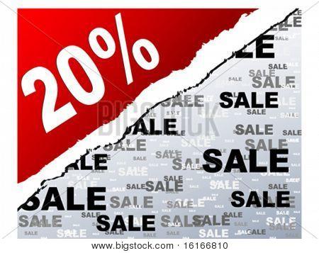twenty percent discount background vector illustration