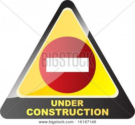 under construction button