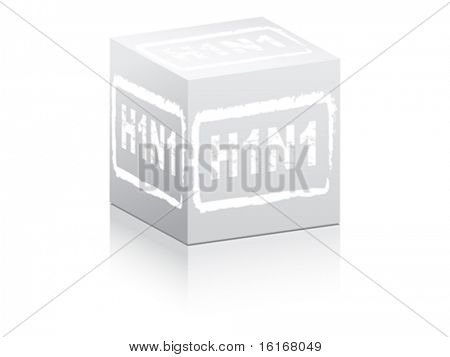 Stamp with swine flu virus code vector illustration