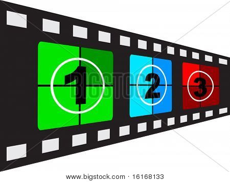 (raster image of vector) filmstrip vector illustration