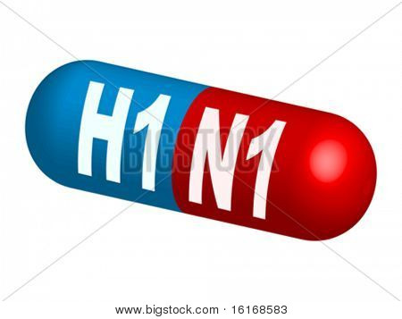 pill for swine flu vector illustration