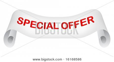 special offer paper vector illustration