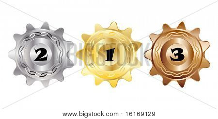 (raster image of vector) medals