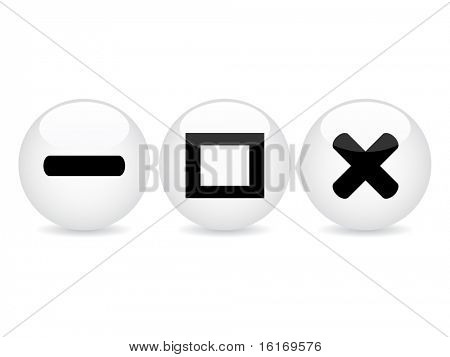 (raster image of vector) white web buttons