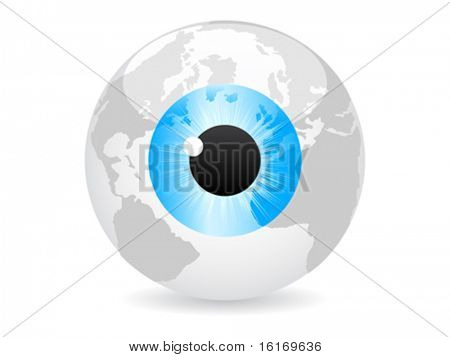 spy the world vector illustration