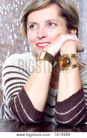 Woman In Her Fifties Smiling