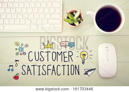 Customer Satisfaction Concept With Workstation