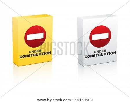 (raster image of vector) under construction icon