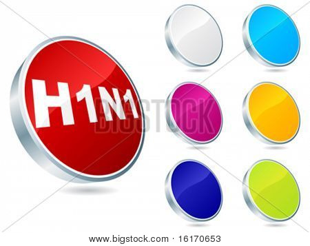 Swine flu virus buttons