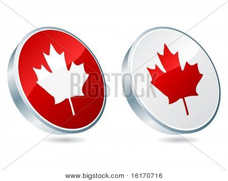 (raster image of vector) canadian icon