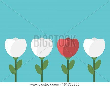 Red Unique Conceptual Flower