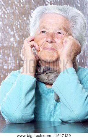 Elderly Woman Dreaming