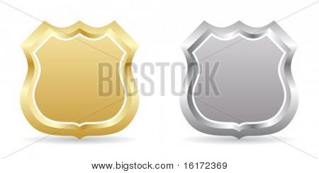 two badge golden and silver