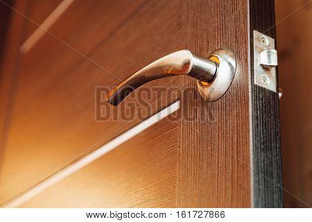 door handle, closeup view