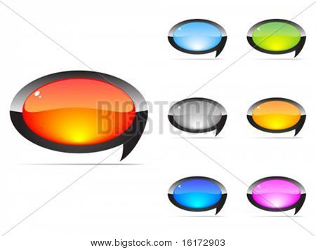 chat icons different colors vector illustration