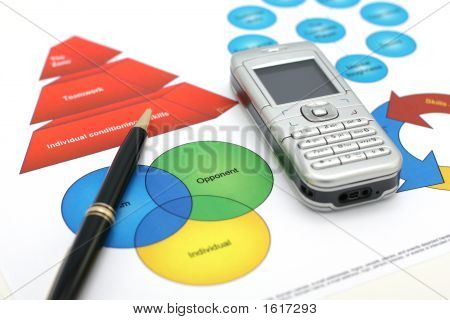 Business Presentation On White Background