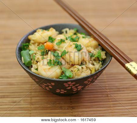 Bowl Of Shrimp Fried Rise