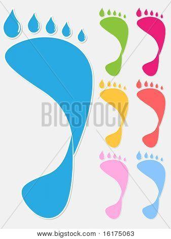 (raster image of vector) Human footprint