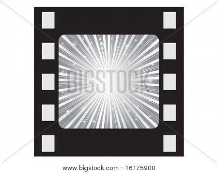 (raster image of vector) silver filmstripe