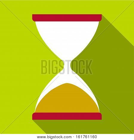 Sandglass icon. Flat illustration of sandglass vector icon for web