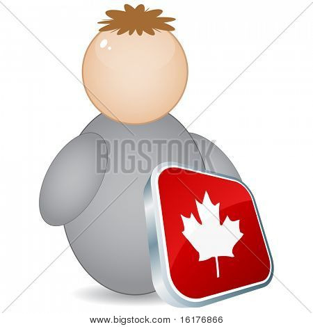 (raster image of vector) canadian citizen