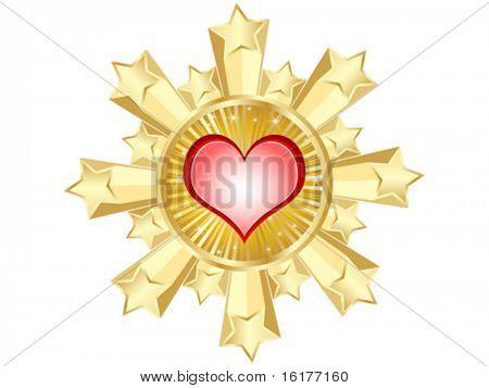 golden casino banner-heart