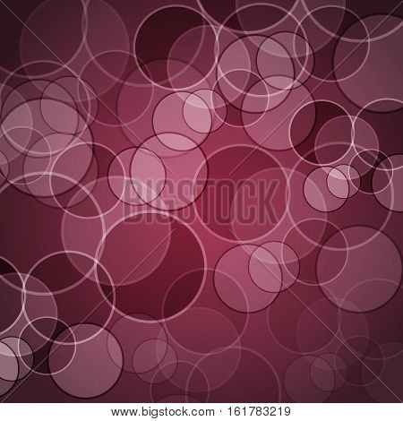 Abstract maroon background with circles, stock vector