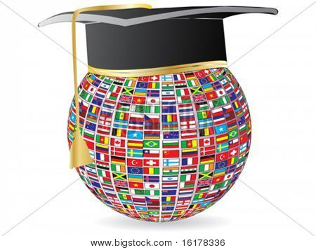world flags graduation