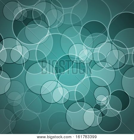 Abstract green background with circles, stock vector