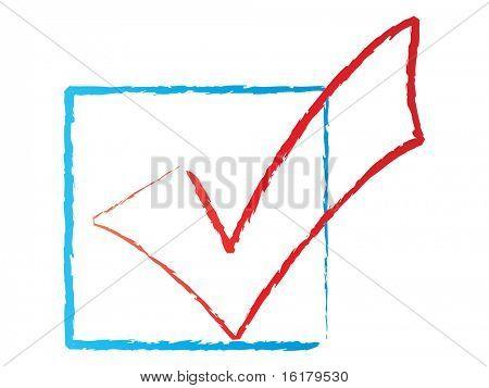 (raster image of vector) check icon