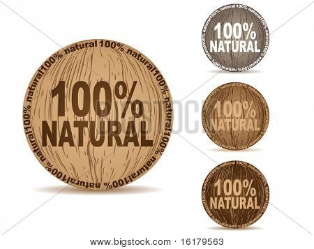 (raster image of vector) natural buttons
