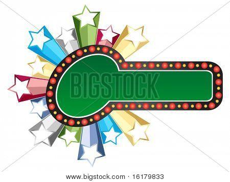 (raster image of vector) casino banner