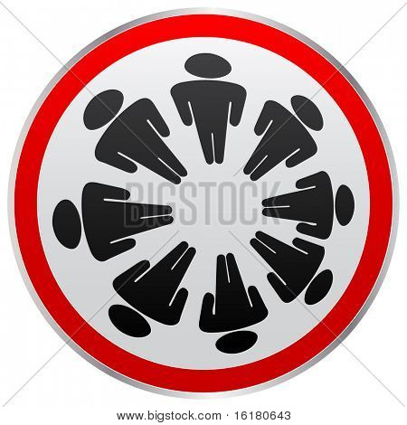 (raster image of vector) people button